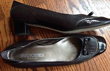 Womens Size 8AA Renzo Fontanelli Brown Two Tone Leather Pumps Shoes