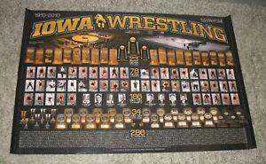 1910-2010 100 Years of University Iowa Hawkeyes Wrestling NCAA Champions Poster