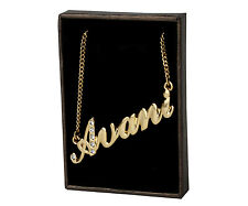 "Name Necklace ""AVANI"" - 18ct Gold Plated - Made With Swarovski Elements- Stylish"