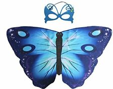 Blue Butterfly Wings Child's Cape & Mask, Summer Fun, Dress Up, Role Play.