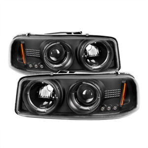 Spyder for GMC Sierra 1500/2500/3500 99-06 Projector Headlights LED Halo LED Bla