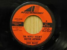 Dave McCoy promo 45 The World Doesnt Matter Anymore bw All Young Women on Avco