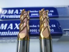 New Lot 2 Pcs Promax 732 Solid Carbide Roughing End Mills Milling Rougher