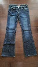 Urban Behavior whisker fade boot cut blue jeans womens size 28, EUC!