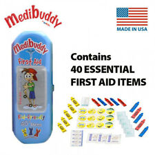Medibuddy Children's Kids First Aid Travel On The Go Kit - 40 Items - BLUE