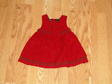 Baby Gap Girls Dress 3-6 Months Dressy Infant ADORABLE Buttons Red Childrens