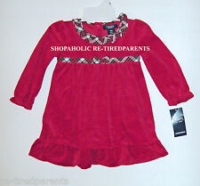CHAPS - CHRISTMAS – HOLIDAY – 2-PIECE DRESS – RED – INFANT – SZ 18 MO - NWT $36