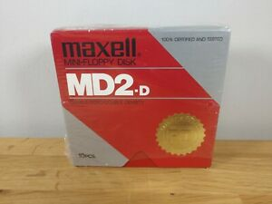 Maxwell Mini Floppy Disk MD2-D 10 pieces new!