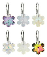 Sterling Silver Earrings made with 6704 Snowflake 20mm Swarovski® Crystals