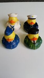 4 - New Uniform Armed Forces Rubber Ducks - Military Army Navy Marines Soldier