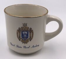 United States Naval Academy Coffee Mug with Crest and Gold Rim - Excellent!
