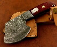 Handmade Pattern Welded Damascus Steel Axe-Functional-Camping-Dh2