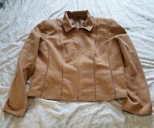 Ladies Next Jacket Tan Camel Suede Effect Biker Style Size 18 Womens Coat