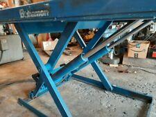 Bishamon hydraulic lift table , Model # Lx200 Wn . 4400Lb Capacity