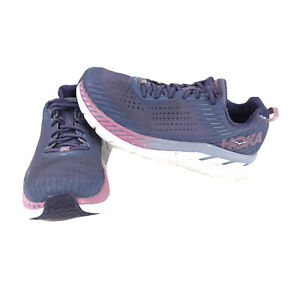 Hoka One One W Clifton 5 Wide Womens Purple Road Running Sneakers Shoes 8.5D