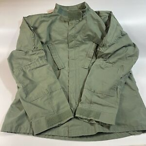 Tru Spec Green Combat Top Size Extra Large XL Regular Button Up Long Sleeve