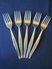 SET 5 DINNER FORKS! Vintage JAPAN flatware MID CENTURY MODERN pattern excellent!