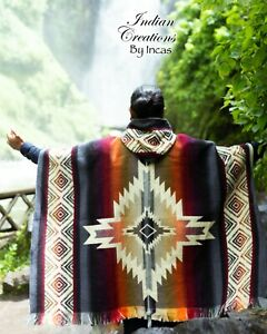 Native Geometric Alpaca Poncho. EXCLUSIVE DESIGN Handcrafted by indigenous hand