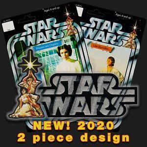 Hasbro Kenner STAR WARS'78 Luke & Leia Vintage style toy logo iron-on patchset