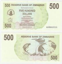 Zimbabwe 500 Dollars 2006 P-41 UNC HYPER INFLATION billet