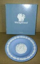 Wedgwood Jasperware Blue Sun God Round Dish Boxed