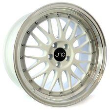 "18"" JNC Wheels JNC005 LM 18x8 18x9 5x114 White Polished Lip 34et Rims"