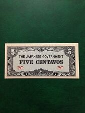 (JC) Five cents Japanese Invasion Money JIM (Philippines) - UNC