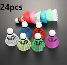 24PCS Colorful Badminton Balls Feather Foam Shuttlecocks for Sport Training USA