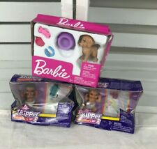 Barbie Skipper Babysitters  African American & Hispanic- Puppy w/BowlLot of 3.