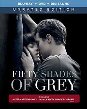 Fifty Shades of Grey Unrated Blu-ray  DVD  DIGITAL HD Brand New Sealed