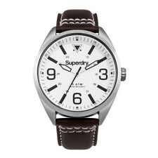 Superdry Military Men's watch SYG199TS Analogue Leather Brown