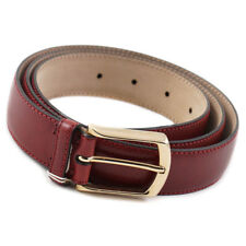 New $575 BRIONI Burgundy Red Pebbled Leather Belt with Gold Buckle 44 W (Eu 110)