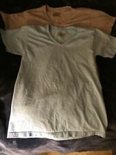 Lot of 2 Hanes Women's T-shirts, size M Medium, Sky Blue & Grey Color pre-owned
