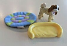 Fisher-Price Loving Family Dollhouse Pet Dog, Dog Bed and Rug