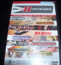 8 Movie Pack (Au Reg 4) DVD Vengence Cannonball Kick Boxer 2 Two Coyotes & More