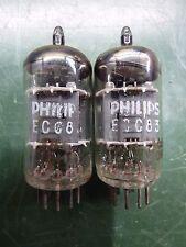 Pair ECC83 12AX7 Philips tubes. Same code I65 ∆0H2. #1960. Tested good.