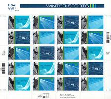 SCOTT #3552-55     US SOUVENIR  SHEET   WINTER  SPORTS  34 CENT            MNH