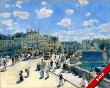 PONT NEUF PARIS FRANCE BRIDGE AUGUSTE RENOIR PAINTING ART REAL CANVAS PRINT