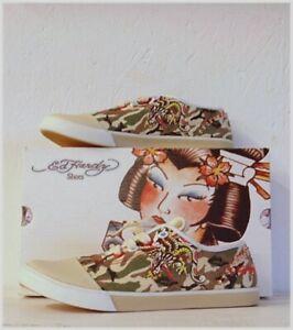 ED HARDY Schuhe snakebird PERLEN Camouflage Gr 37 NEU