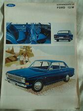 Ford 12M brochure c1968 Italian text