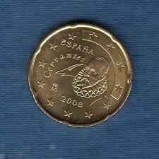 Espagne - 2008 - 20 centimes d'euro - Pièce neuve de rouleau -
