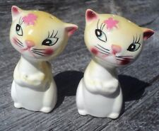Vintage Kitty Salt & Pepper Shakers Cats With Attitude Cattitude Made In Japan