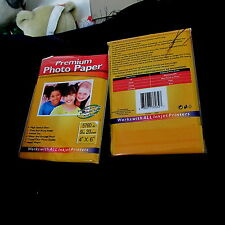 """Premium Photo Paper 20 sheets-4"""" x 6""""  Glossy do your own printing..all ink jet"""