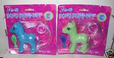 #641 NRFC Princess Pony Play Set My Little Pony Clone Blue & Green