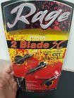 "Rage Two-Blade SlipCam Broadheads with Shock Collars- 100 grain, 2"" cut R61000"