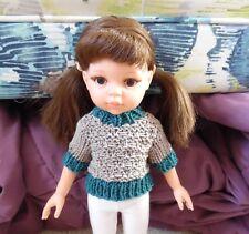 Organic Knit 13 inch Grey Doll Clothes Sweater Wellie Wisher Reina Amigas Effner