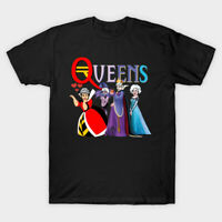 Golden Queens Golden Girls Parody Evil Queen Red Queen Elsa Black T-Shirt S-6XL
