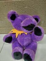 "Vintage Steven Smith Grateful Dead Purple Jointed Dancing Teddy Bear 12"" (a332)"