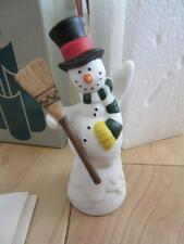 """PARTYLITE SNOWMAN SNUFFER CANDLE SNIFFER EXTINGUISH FLAME 4 1/4"""" TALL"""