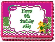 BARNEY AND FRIENDS EDIBLE CAKE TOPPER BIRTHDAY DECORATIONS